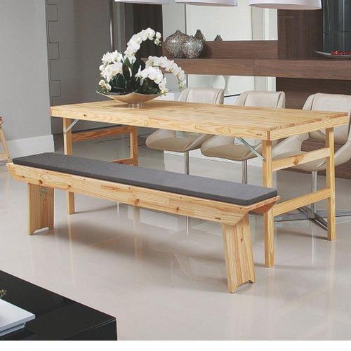 conjunto tramontina naturalle 91750/100 1 mesa e 2 bancos