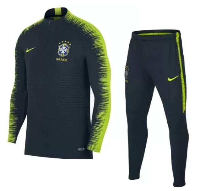 041280c14 Conjunto Treino Nike Seleção Brasileira Agasalho Brasil 2018 - R  299