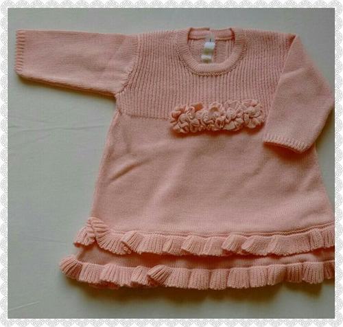 conjunto tricô 50% algodão, 50% acrílico, saída  maternidade