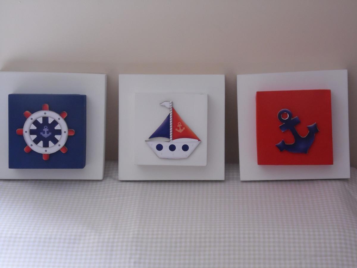 Conjunto Trio De Quadros Decorativos Para Quarto Bebê R