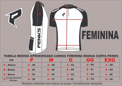 conjunto trip penks bermuda + camisa + manguito feminino.