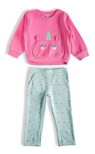conjunto unicórnio toddler rosa