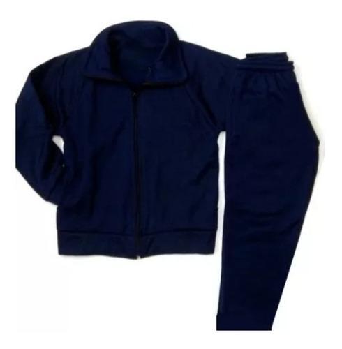 conjunto uniforme acetato marron bordo azul escolar