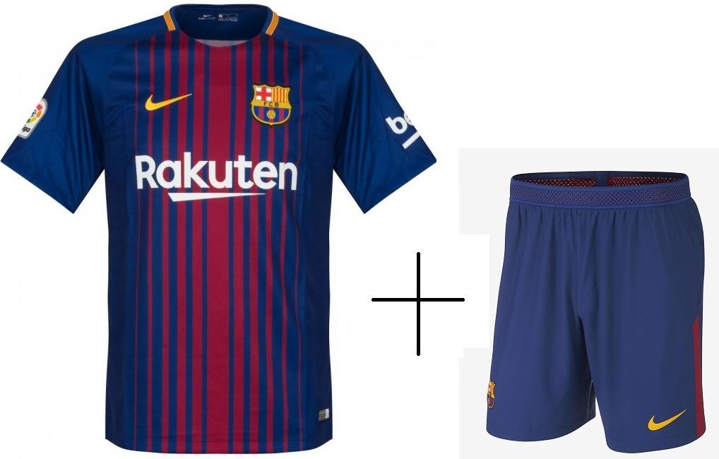conjunto uniforme barcelona camisa shorts oficial. Carregando zoom. 906a89d74b613