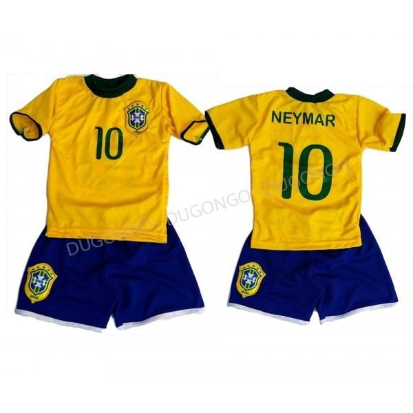 b36f89b35da2d Conjunto Uniforme Camisa Infantil Brasil Seleção Brasileira - R  29 ...