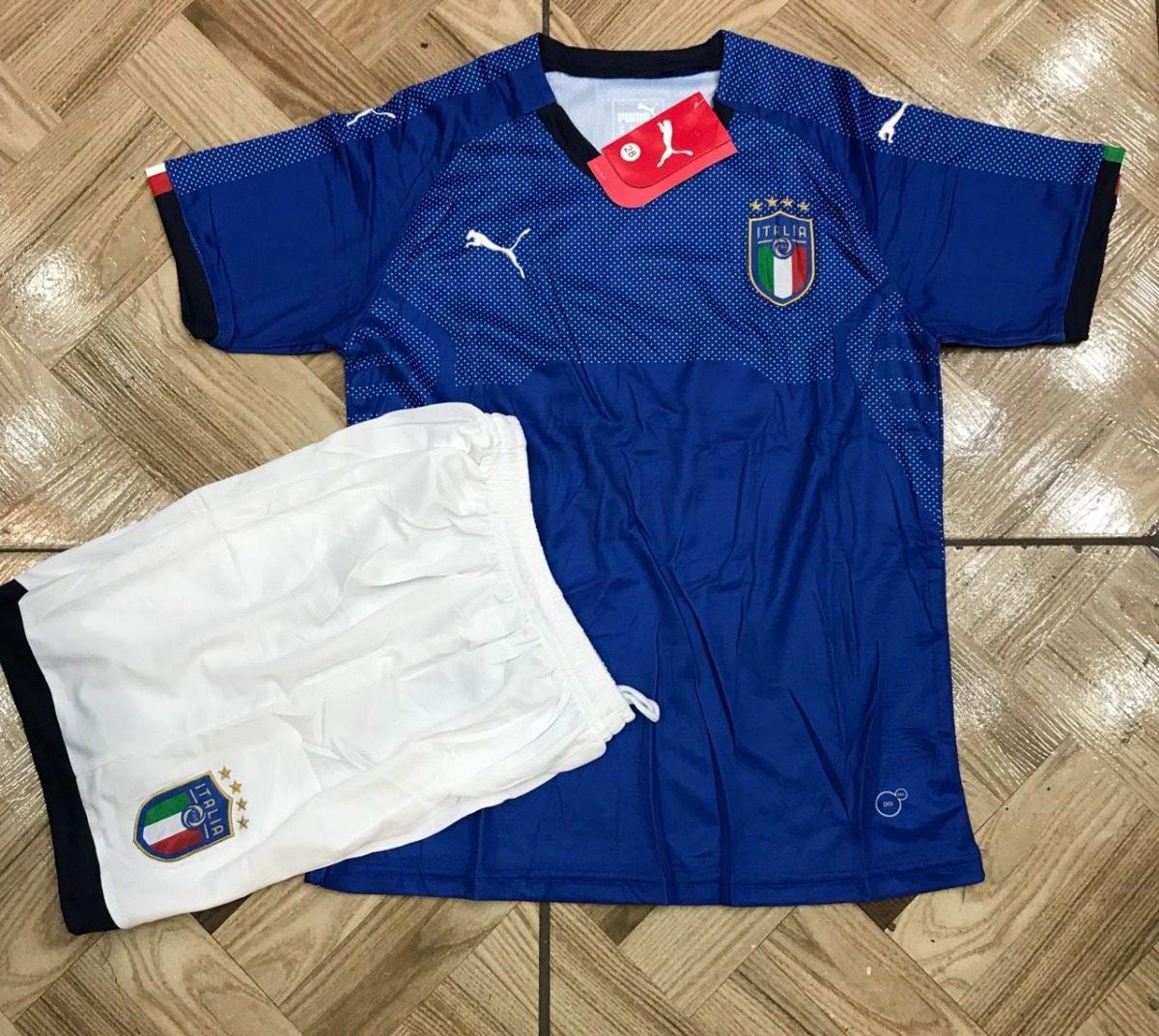 1cc4380a7e conjunto uniforme infantil seleção da itália original azul. Carregando zoom.