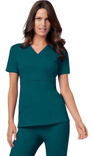 conjunto uniforme médico quirúrgico dama azul petroleo
