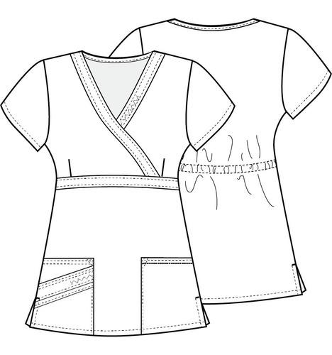 conjunto uniforme médico quirúrgico dama gris oxford