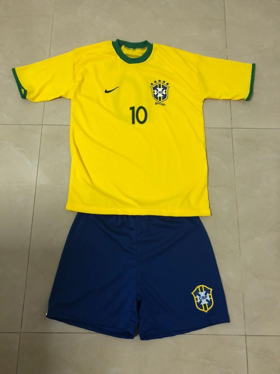 d3b63f1aca conjunto uniforme seleção brasileira - infantil - copa 2018. Carregando  zoom.