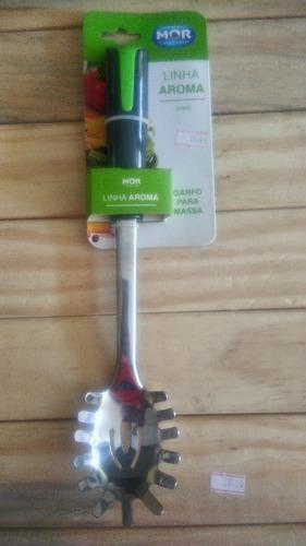 conjunto utensílios para cozinha aroma mor 5pcs inox verde