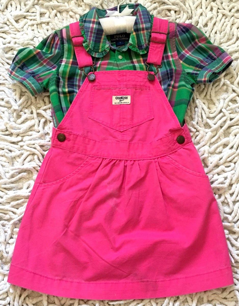 conjunto vestido+camisa infantil menina ralph lauren+oshkosh. Carregando  zoom. 1040bdddf30