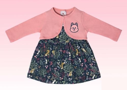conjunto vestido com bolero bebê nova coleção brandili 52622