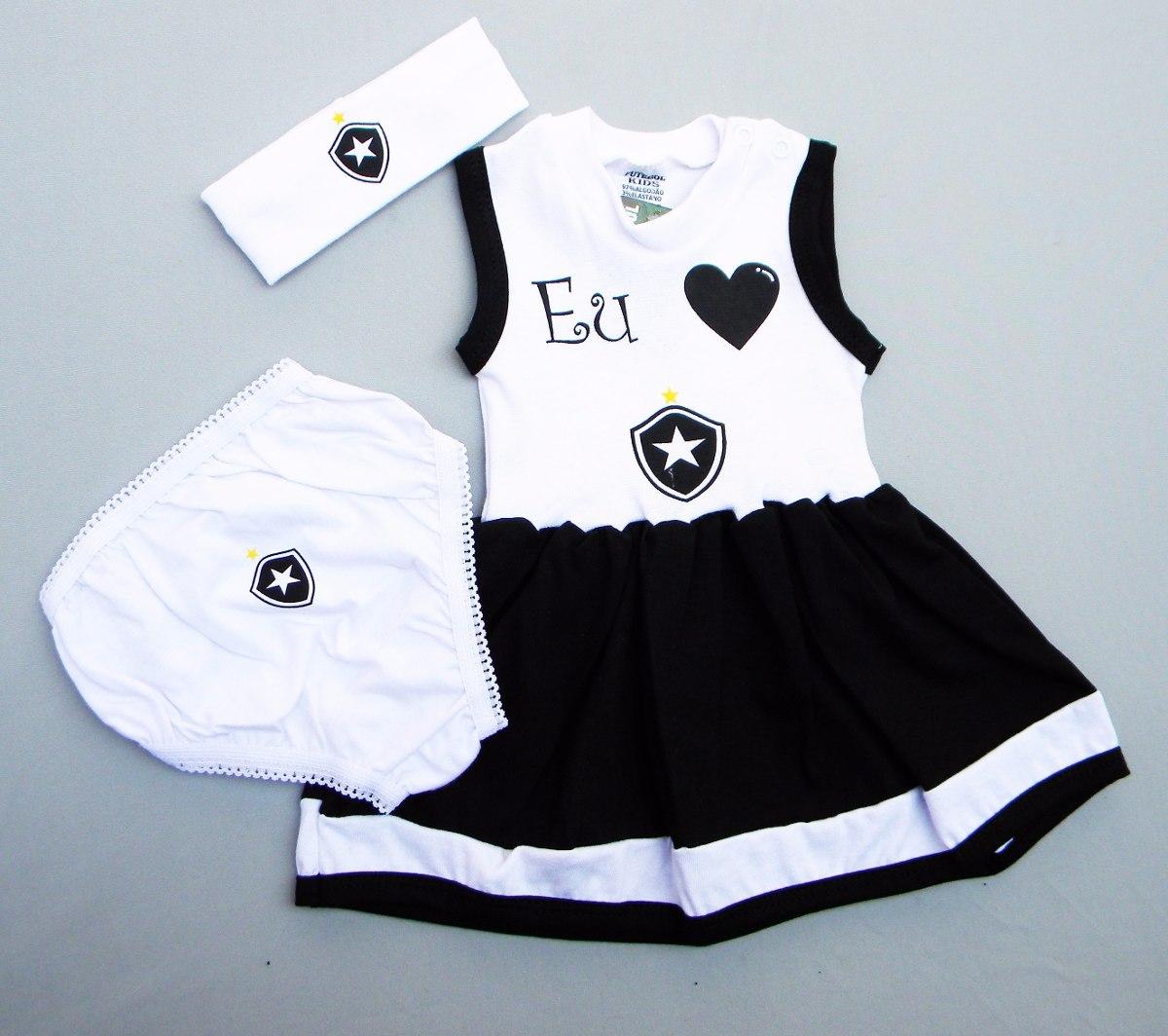 afe3ec8834 Conjunto Vestido Do Botafogo De 0 À 18 Meses (meninas) - R  40