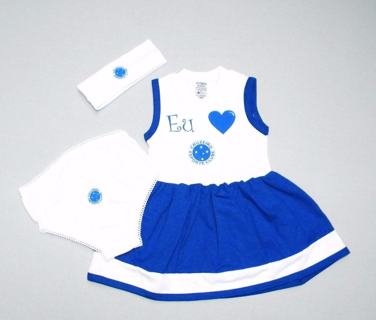 6779cd8dc8 Conjunto Vestido Do Cruzeiro De 0 À 18 Meses (meninas) - R  39