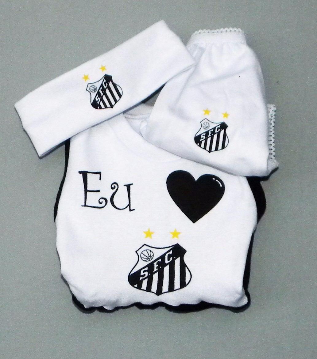 Conjunto Vestido Do Santos F.c De À 18 Meses (meninas) - R  39 f2b509bf97e3a