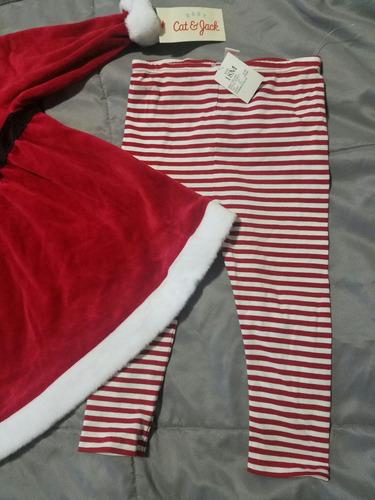 conjunto vestido navideño americano nuevo para bb 18 meses