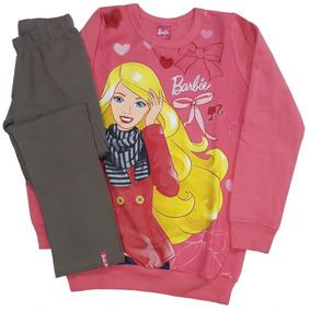 357e40fdea Conjunto Vestleg Leg Flanelado Infantil Malwee Barbie Nº 4-8