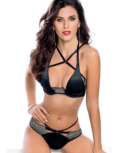 a5cce12b1399 Conjunto Vicky Form 20194 Negro Sexy Con Envio - $ 530.00 en Mercado ...