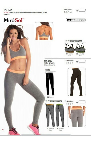 conjunto yoga, pilates, gimnasia 4524 miró sol