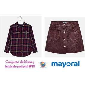 40a9ceafb Conjunto Blusa Y Falda Mayoral Est. 7128  10 En Oferta