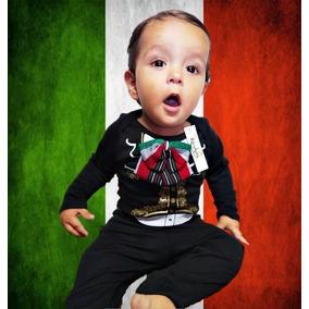 f8b2beab0c6 Conjunto Charro Mariachi Viva México Bebé Moño Tricolor 3d