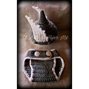ea442909ca97e Conjuntos Gorro Y Pañalero Niño Tejido Crochet Perro Y Conej - Ropa ...