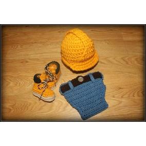 a857668555b0e Conjunto Crochet Bebe Amarillo - Conjuntos en Mercado Libre México