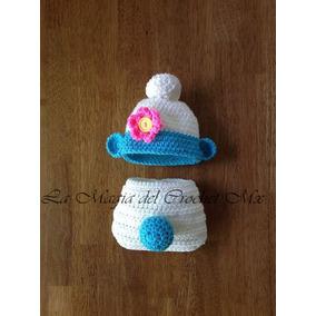 6cae7986b5db7 Gorro Tejido A Crochet Pitufo en Mercado Libre México