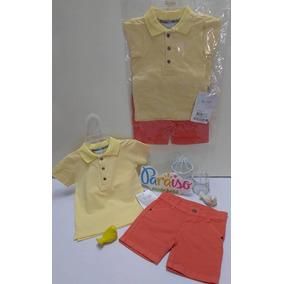 8ffbbd0cb4 Conjunto Paraiso Bebe Menino Bermuda Camisa Polo Ref 7492