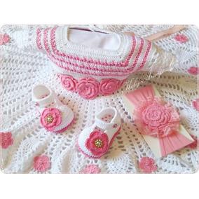 a4835d460 Vestido De Croche Para Bebe De 10 Meses no Mercado Livre Brasil