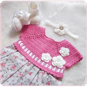 6450c7538 Bebe Vestido De Croche no Mercado Livre Brasil