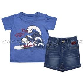 47aea2d823 Tigor T Tigre Shorts Bermuda Jeans Baby Tam Gb 9 12 Meses - Calçados ...