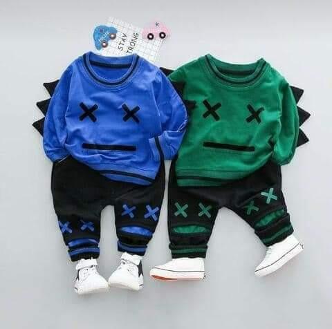 conjuntos bebe y niño,algodón frizado de 0 a 5 años