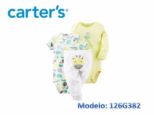 conjuntos carters set bodys carters 3 piezas