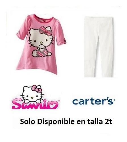 conjuntos carters tunica legging hello kitty sanrio 2t