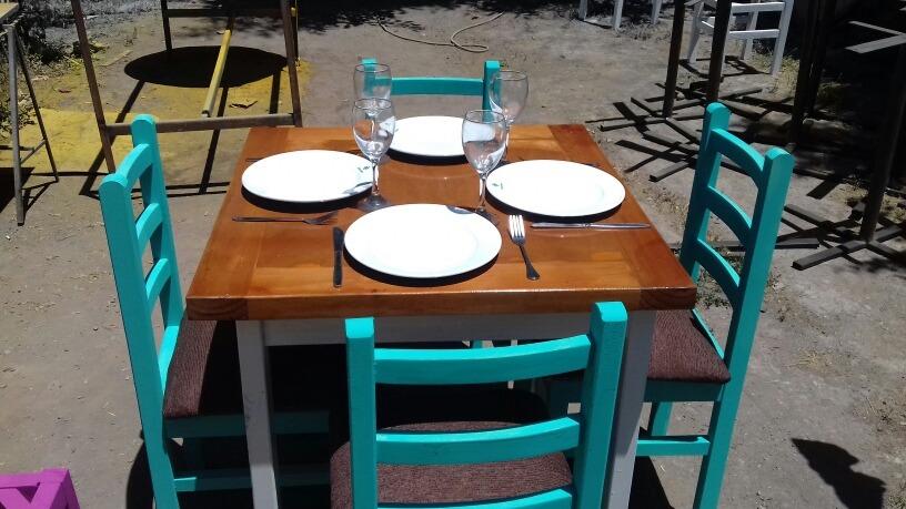 Conjuntos Comedor 4 Personas Local Comercial Y Cafeteria - $ 100.000 ...
