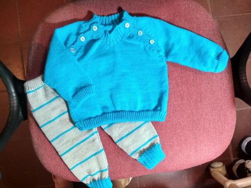 conjuntos de bebe en hilo y en lana acrilica