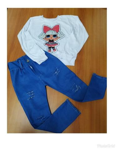 conjuntos de pantalon  y blusa para niñas.