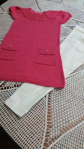 conjuntos de vestido y legging americanos nuevos para  niña