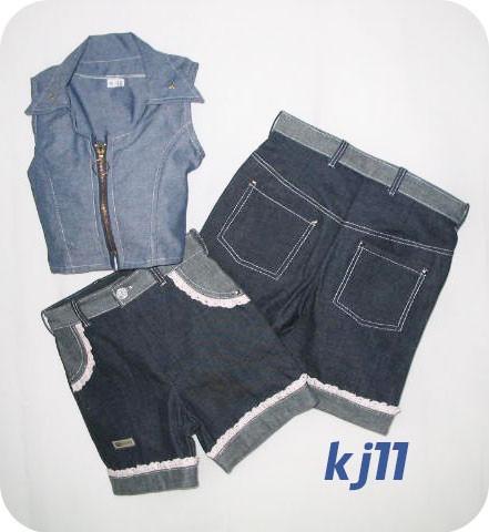 conjuntos faldas de blue jeans para niñas