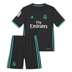 4d856b53ae0ab Uniforme Del Real Madrid Negro Para Niño en Mercado Libre México