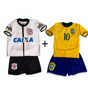 469b44832b28b Kit Uniforme Completo Do Corinthians no Mercado Livre Brasil
