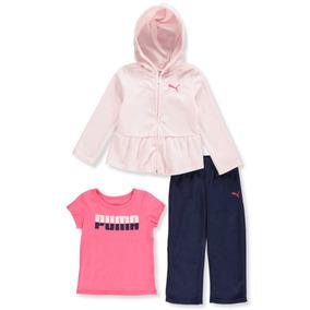 71e45908462 Conjunto Em Fleece Infantil Puma Menina Original Frio 3pçs