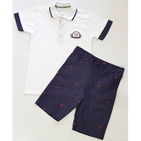 0755ea13d217b Conjunto Camiseta Polo Bermuda Tigor T. Tigre Tam 10