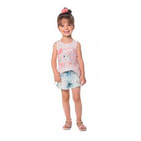 dbccae5026 Conjunto Infantil Menina Unicórnio Baby Petit Cherie