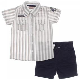 c232bedfc6dbc Conjunto Infantil Brandili Mundi Camisa Short Verão Menino 2