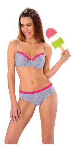 conjuntos lenceria de mujer algodon ropa interior femenina