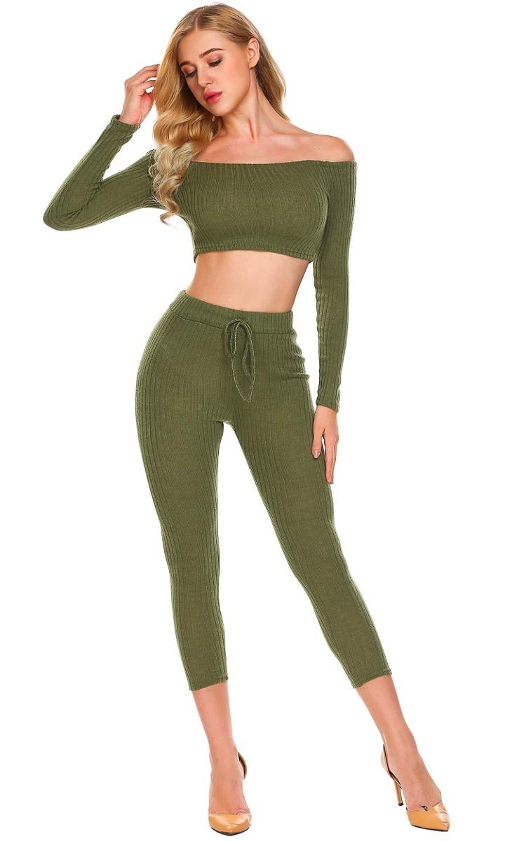 Conjuntos Mujeres Tops Con Elástica Pantalones Largos -   431.23 en ... fae10ea81197