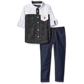 f64f4c1ae70c4 Conjunto De Niño Us Polo Talla 4 Camisa Y Pantalon Jean