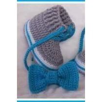 Conjunto ,zapato,corbata,corbatin,lazo Tejidos Para Bebes